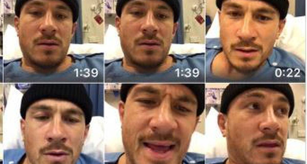 Injured All Blacks midfielder Sonny Bill Williams sings to nurses from hospital bed