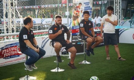 Super Rugby 2018: Fans Meet SUNWOLVES' Nikolaz Khatiashvili and Ryuji Noguchi