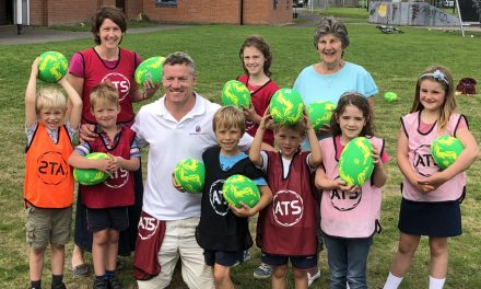 Ex-England rugby star helps Shropshire children improve their skills