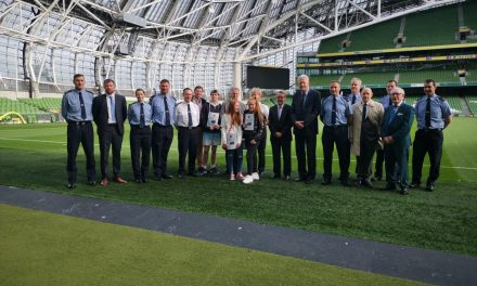 Ireland rugby boss Joe Schmidt helps launch inaugural Dublin South Central Garda Youth Awards at the Aviva Stadium