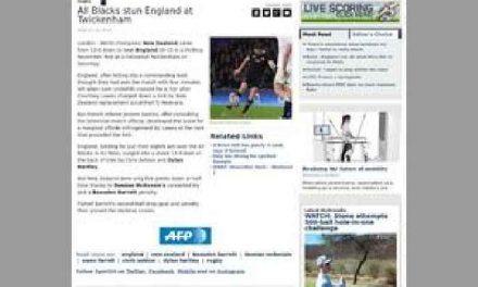 All Blacks stun England at Twickenham – One News Page