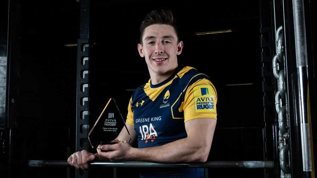 Josh Adams wins Aviva Premiership Rugby Player of the Month