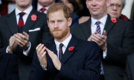 Prince Harry joins England rugby fans to remember the fallen