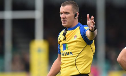 Referee Tom Foley brings up half century of Aviva Premiership Rugby games