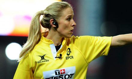 Joy Neville: Rugby union referee makes history