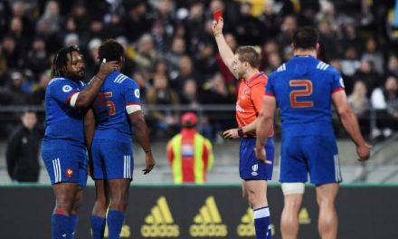 Red card mars All Blacks match with France down to 14-men from the 12th minute