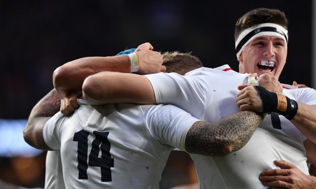 England Rugby team's reaction to Cricket World Cup triumph caught on camera