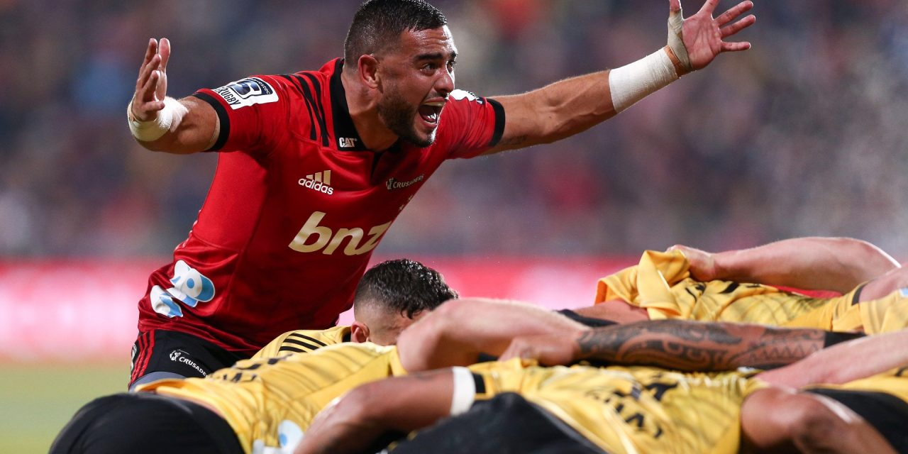 Crusaders win 30th successive home match to reach another Super Rugby decider