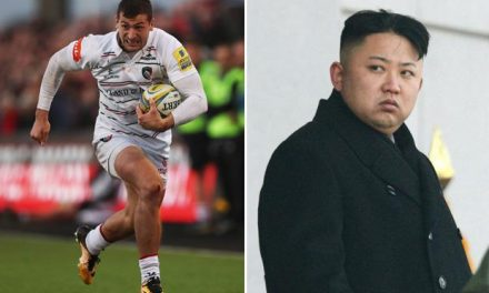 Why was Jonny May invited to North Korea by Kim Jong-un and who is the England rugby star?