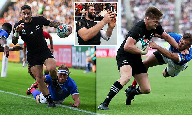 New Zealand 71-9 Namibia: All Blacks score 11 TRIES in Tokyo rampage against Namibia | Daily Mail Online