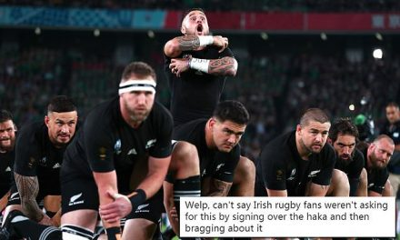 Irish fans sing through All Blacks haka at Rugby World Cup in Japan | Daily Mail Online