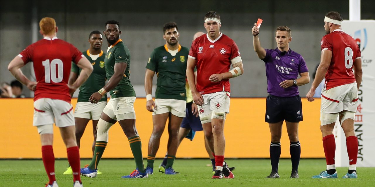 Canadian Larsen showed class with red card apology in Springboks' dressing room