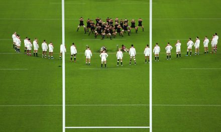 Eddie Jones knew England could 'rile' New Zealand by defying the haka as Owen Farrell 'winks' and smiles at All Blacks