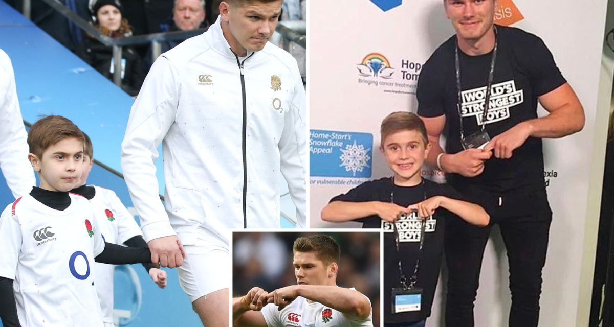 What is Owen Farrell's 'JJ' celebration? England rugby captain inspired 11-year-old with muscular dystrophy