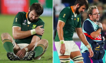 South Africa star de Jager suffers dislocated shoulder as Springboks lose two more players in brutal World Cup final