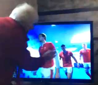 Gran throws holy water on TV to bless Wales rugby players before World Cup semi-final loss to South Africa