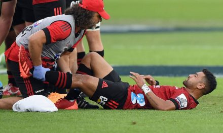 Super Rugby: Groin and knee not expected to sideline Crusaders' Richie Mo'unga  | Stuff.co.nz