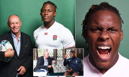 When Sir Clive Woodward met England rugby star Maro Itoje   Daily Mail Online