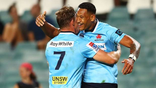 Try after final siren gives Waratahs last-gasp Super Rugby win over Stormers