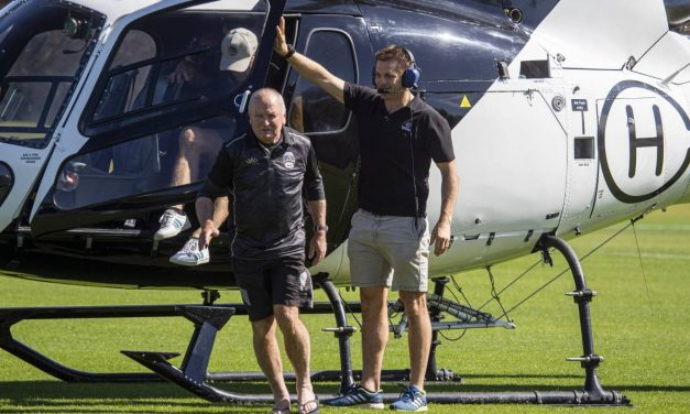 Ex-All Blacks captain Richie McCaw delivers rugby coaches by helicopter  | Stuff.co.nz