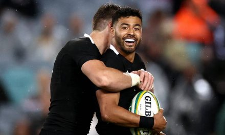 Watch: Richie Mo'unga puts on a first half clinic as All Blacks put Wallabies to the sword